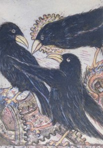 """""""Crows"""" by Daphne Clifton"""